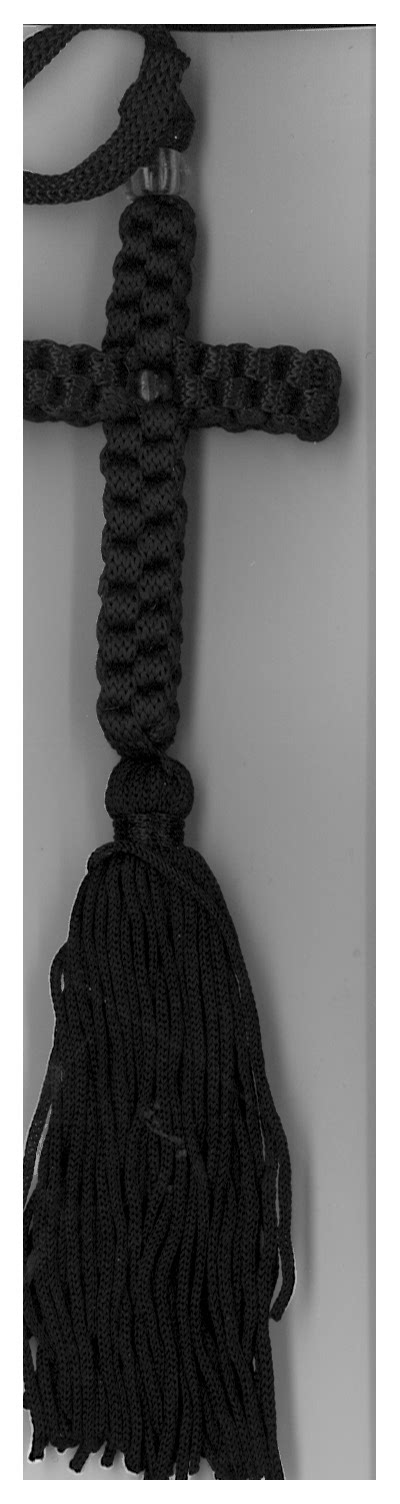 Cross prayer rope