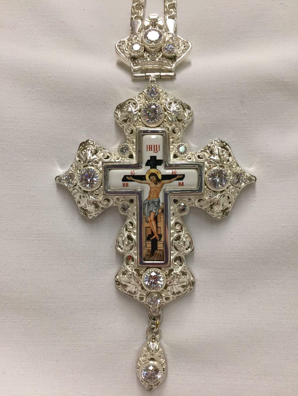 Pectoral Cross Silver (white)