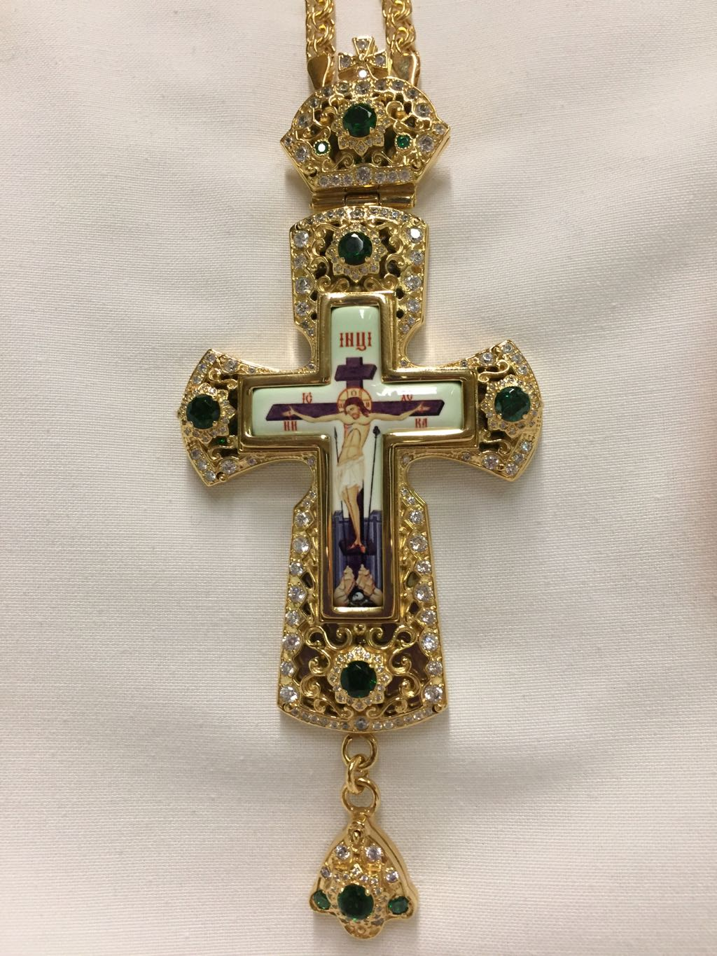 Pectoral Cross (Green Stones)
