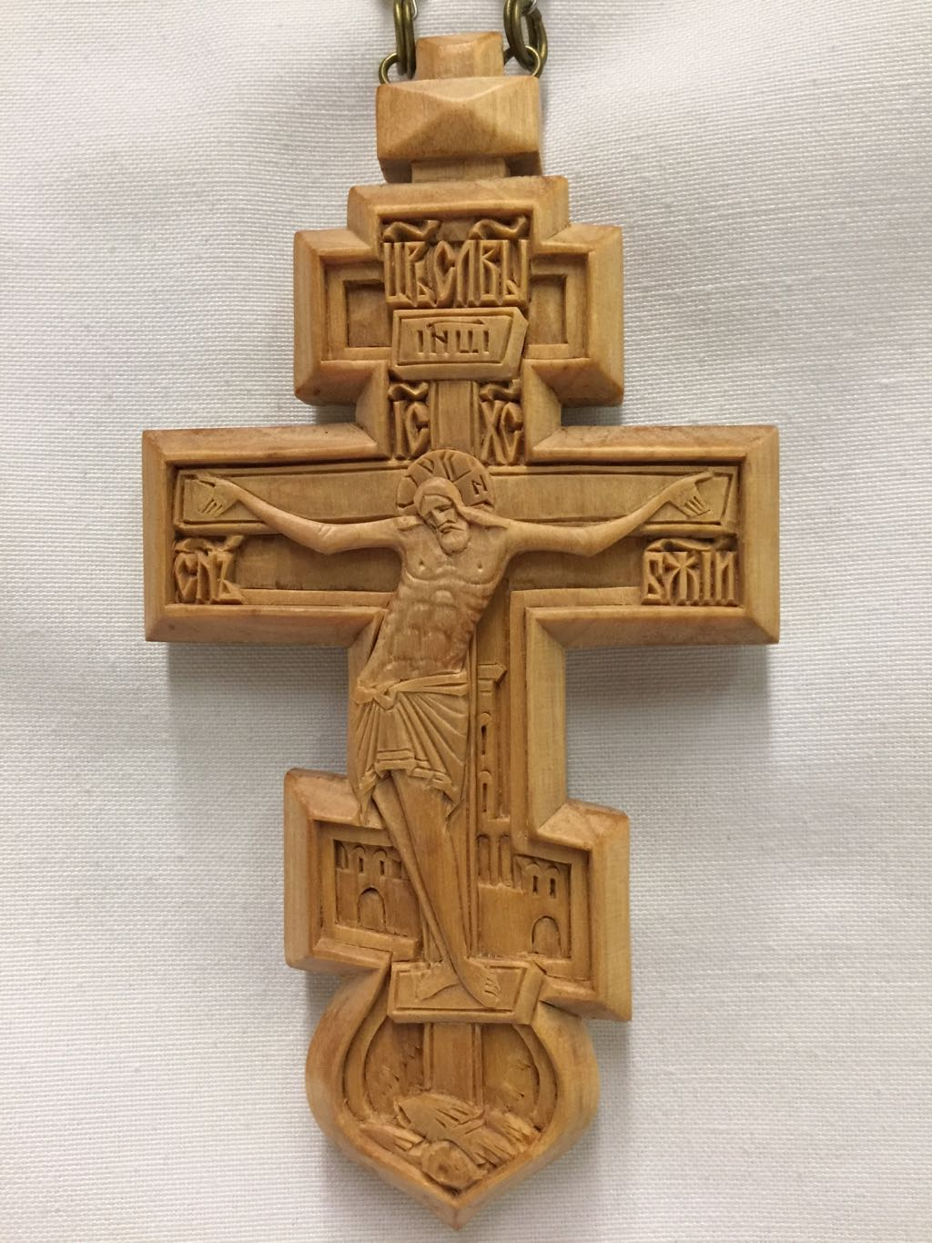 Pectoral Cross Wooded 3 Bar