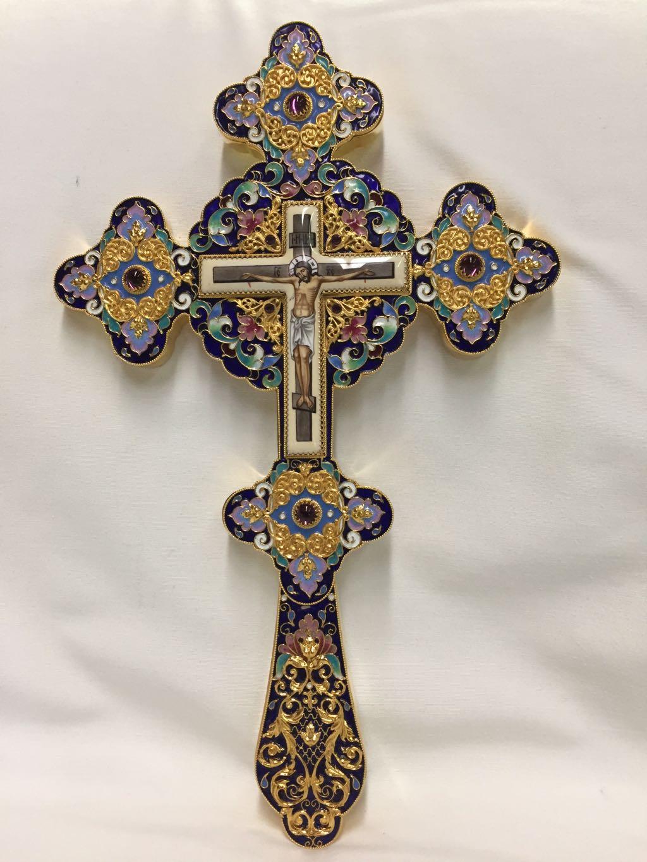 Blessing Cross Enamel Lg