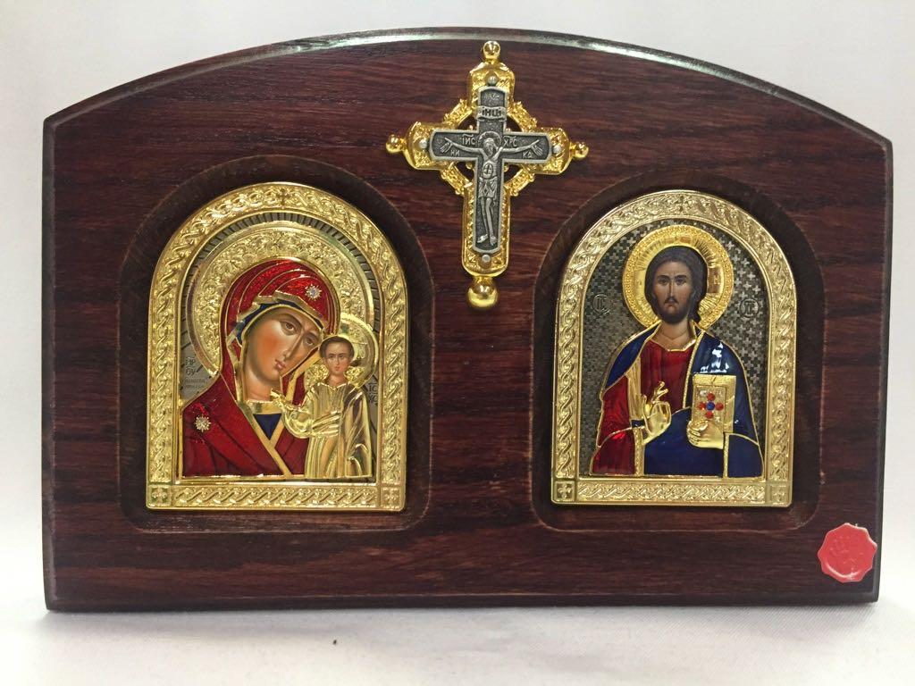 Double Sm Shrine IC & Theotokos