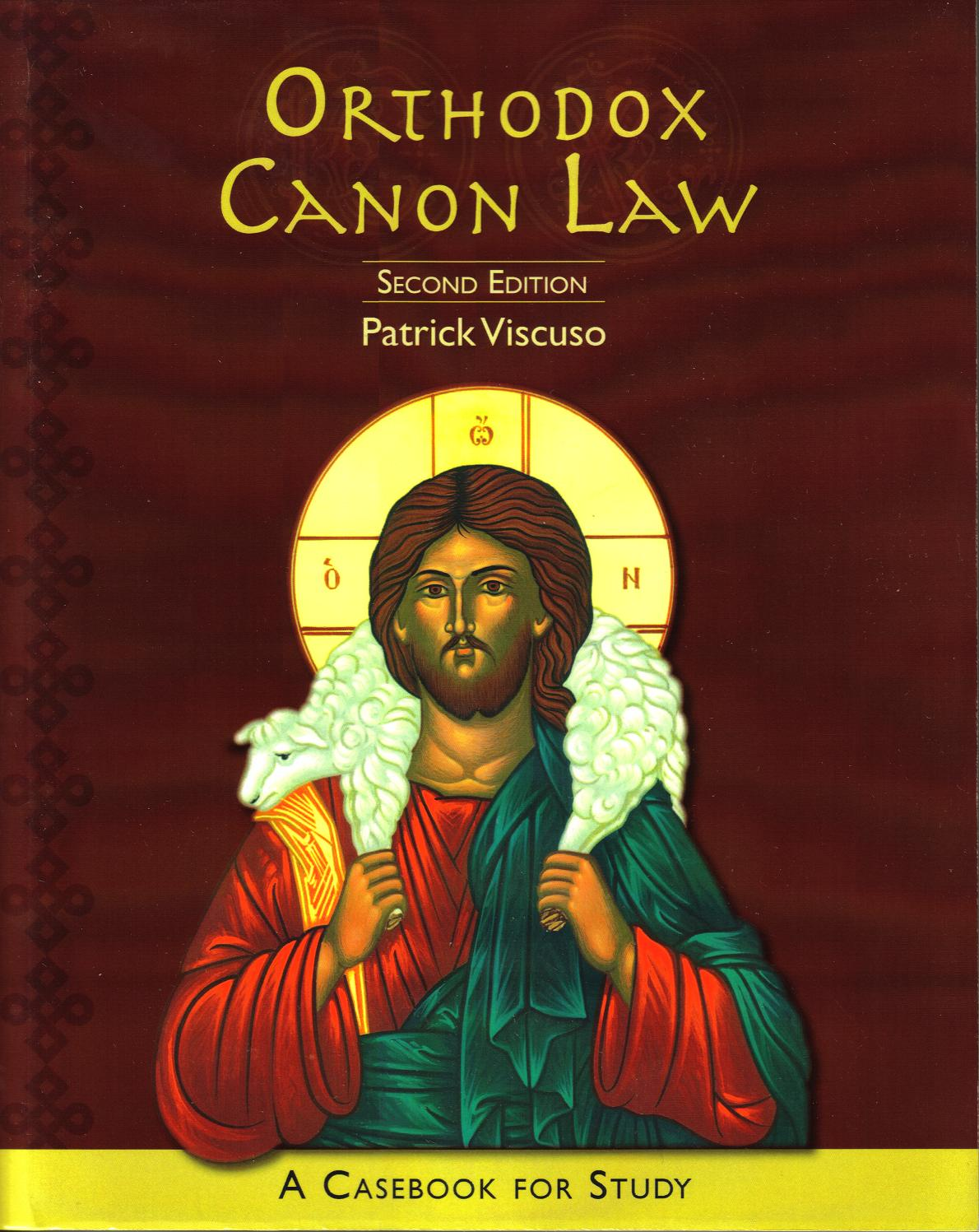 Orthodox Canon Law 2nd Edition