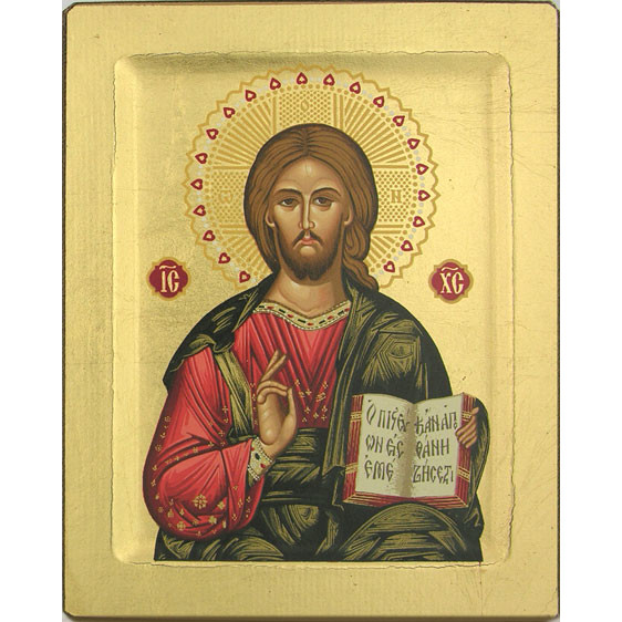 "Icon Christ the Good Teacher 6""x7.5"