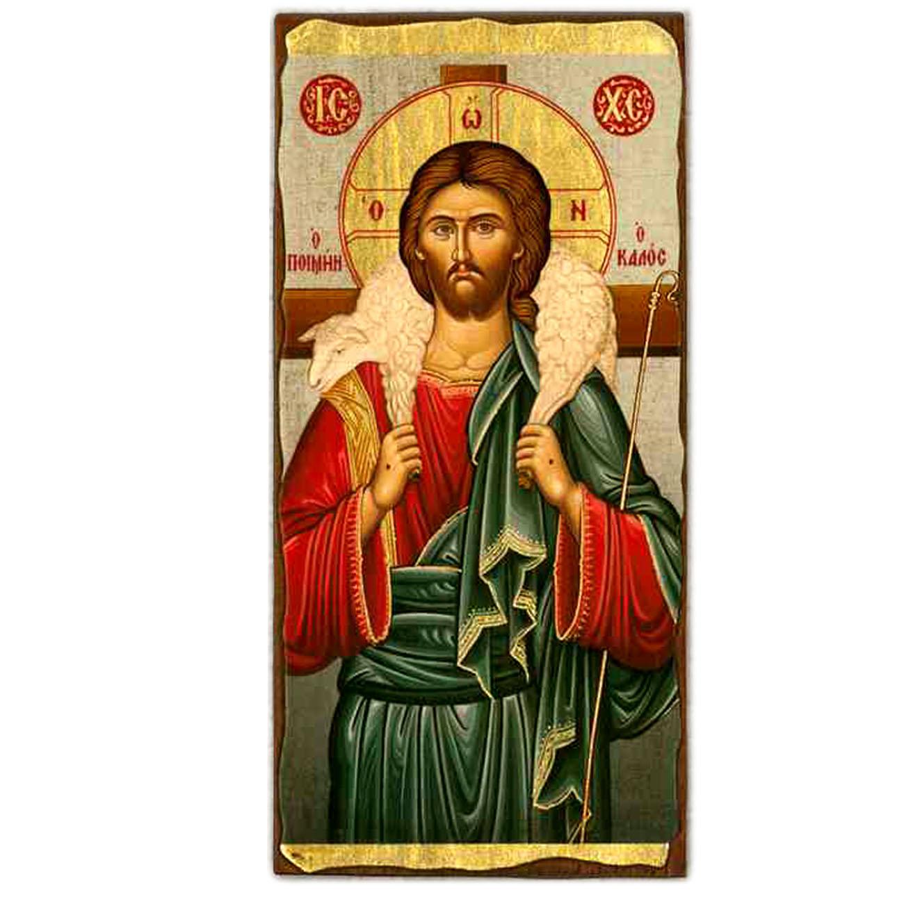 "Icon Christ Good Shepherd 4.5""x9"""