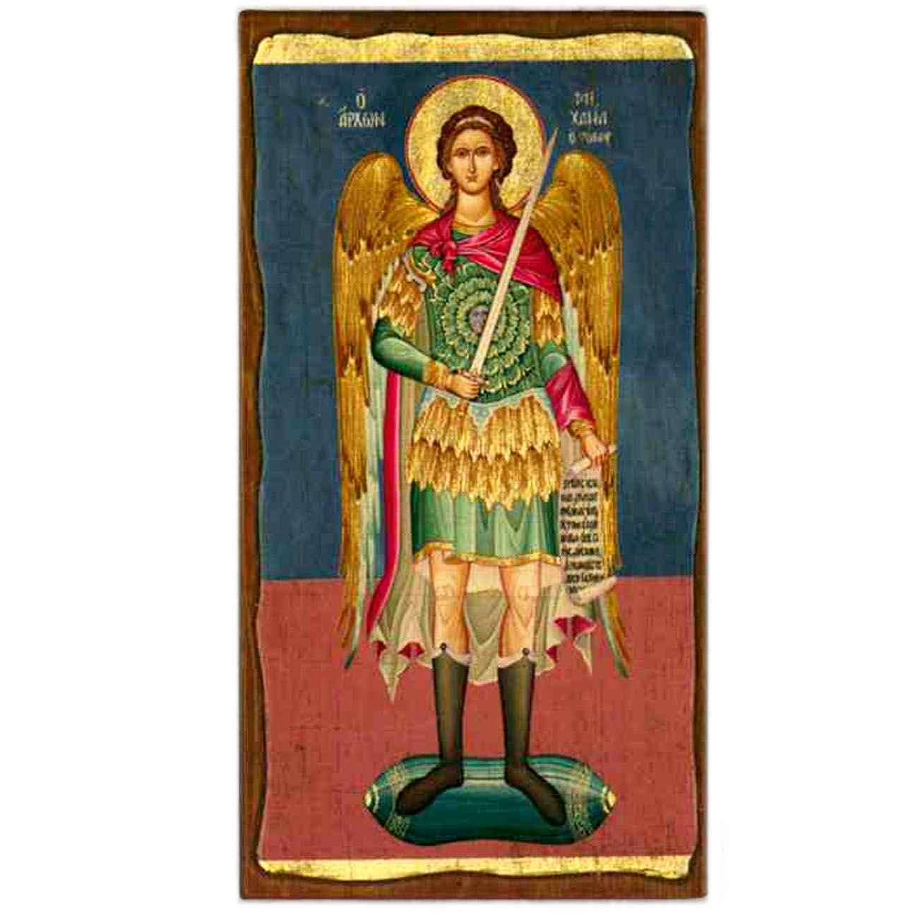 "Icon-St. Michael 6""x11"""