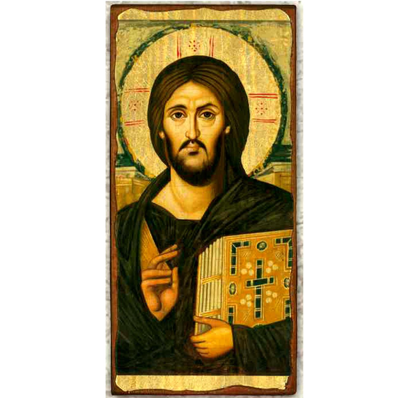 """Icon-Christ of Sinai 6""""x11"""""""