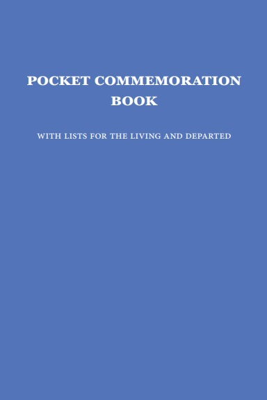 Pocket Commemoration Book