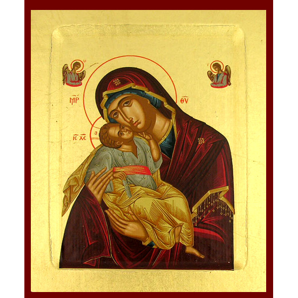 Icon Theotokos Sweet Kissing