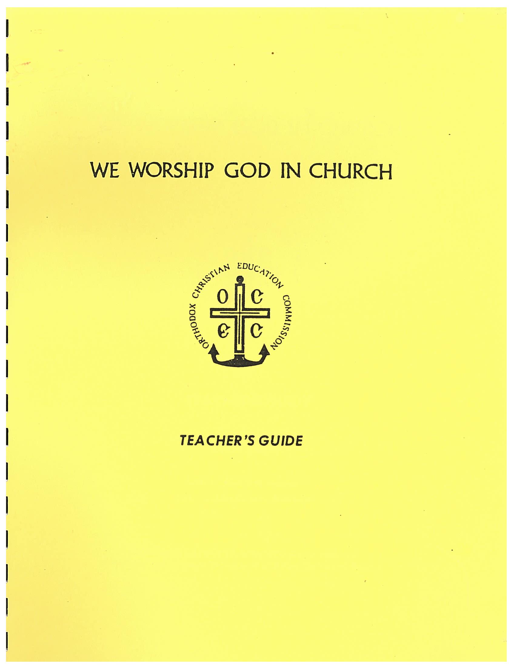 We Worship God In Church-Teacher