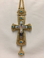 Pectoral Cross (Light blue Stones)