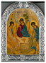 Icon-Trinity Rounded Silver Greece