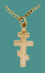 SS Gold Overlay Cross No Image