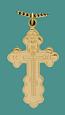 SS Gold Overlay Cross