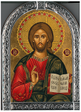 Icon-Rounded Silver Christ Teacher
