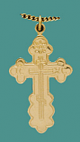 SS Gold Overlay Cross