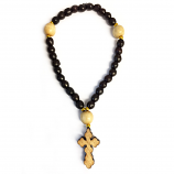 Wood Beads W/Cross