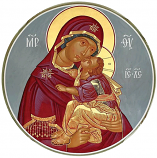 Icon Virgin and Child Round