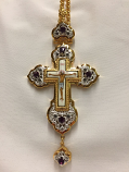Pectoral Cross Purple Stones