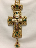 Pectoral Cross Red/Green Ston
