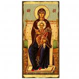"Icon-Virgin of Vatopaida 6""x11"""