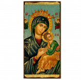 """Icon-Mary Perpetual Help 6""""x11"""""""