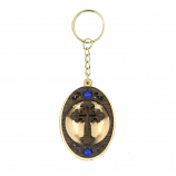 Keychain Cross w/Gem