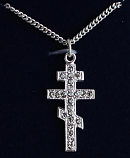 Sterling Cross Blk Dmnd Crystl