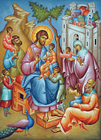 Icon Christ Blessing Children