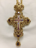 Pectoral Cross Ruby Stones