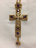 Pectoral Cross Gold & Purple