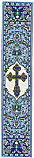 Woven Bookmark - St. Xenia Cross Blue