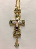 Pectoral Cross Light Blue Ston