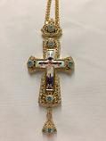 Pectoral Cross Light Blue Ston