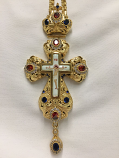 Pectoral Cross (Red Blue Ston)